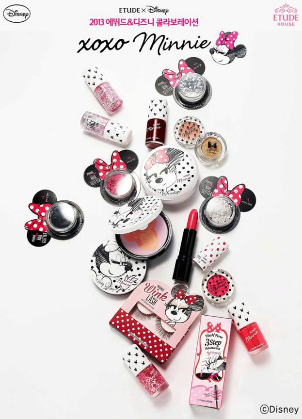 Etude House x Disney collaboration xoxo Minnie products