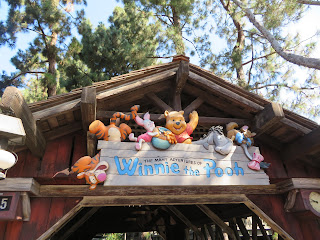 The Many Adventures of Winnie the Pooh Disneyland Sign