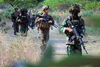 Marinir Indonesia dan US Marine Latihan Bersama