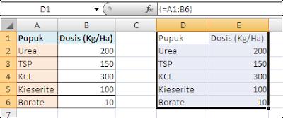 Belajar Excel Rumus Array