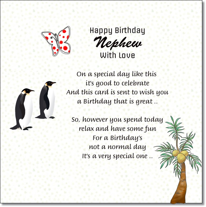 Nephew Happy Birthday Messages From Aunt And Uncle