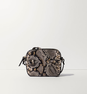Massimo dutti snakeskin effect messenger bag