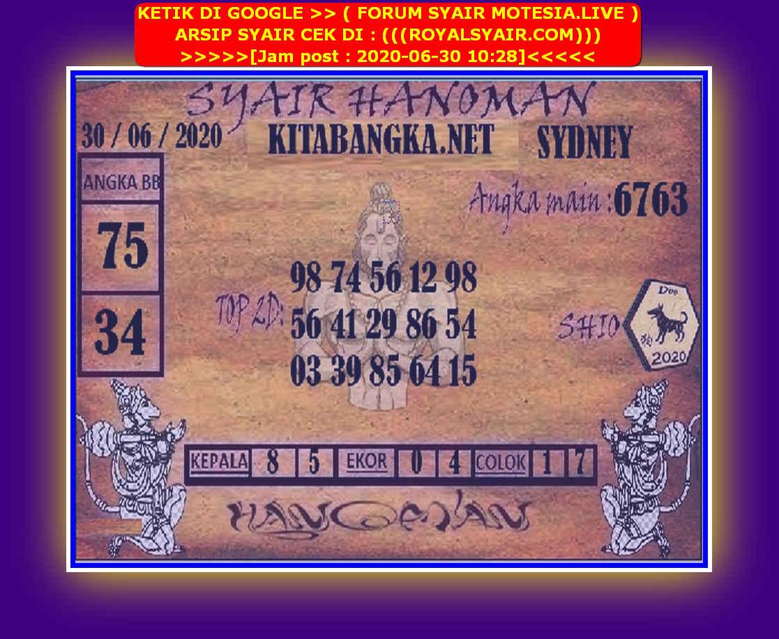 Kode syair Sydney Selasa 30 Juni 2020 131