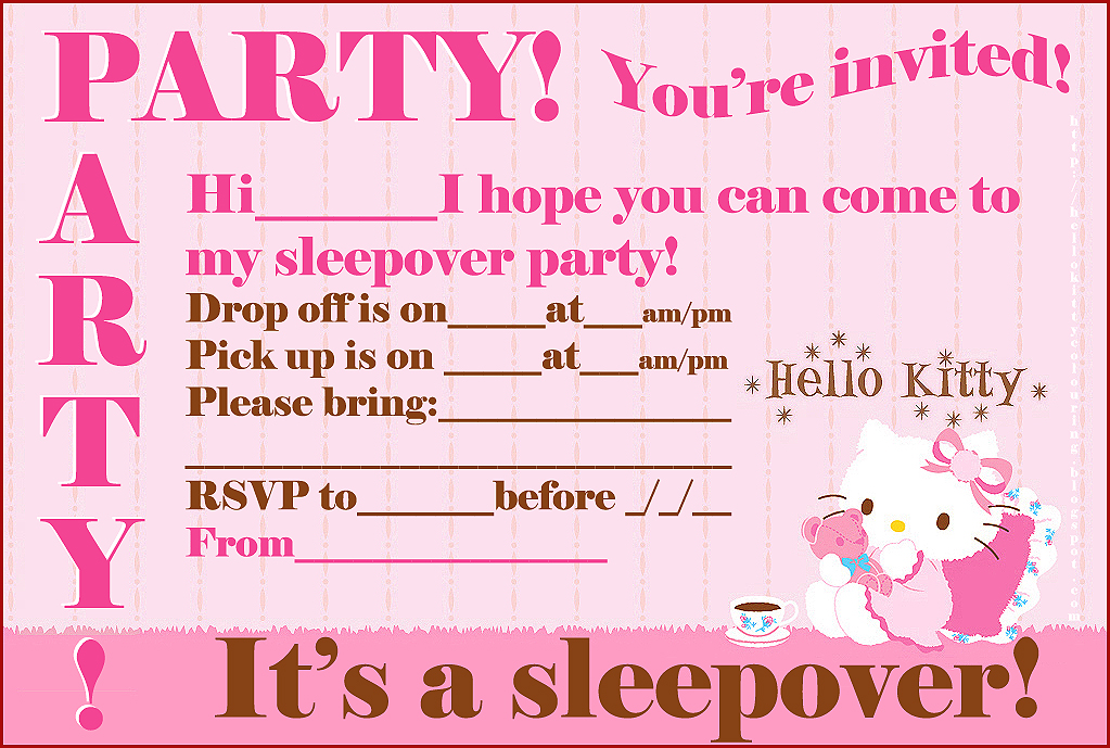This is a graphic of Free Printable Slumber Party Invitations throughout pattern