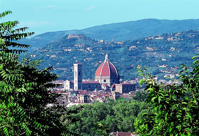 Famous hills of Florence, Italy.