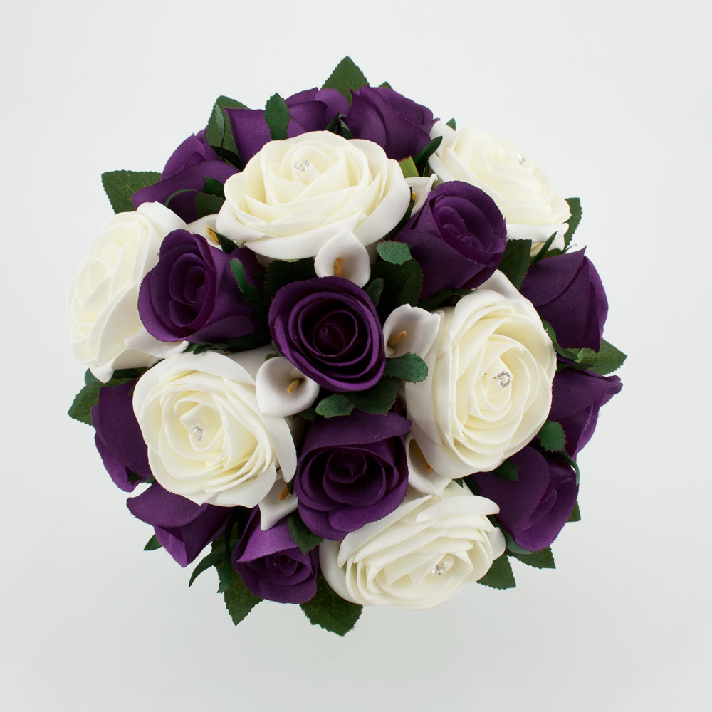 Purple And Pink Wedding Flowers: Firenze Flora: Beautiful Purple Wedding Bouquet