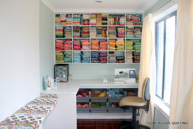 Erika 39 s chiquis sewing room storage ideas for Quilt room design ideas
