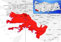 Kavaklıdere ilçesinin nerede olduğunu gösteren harita