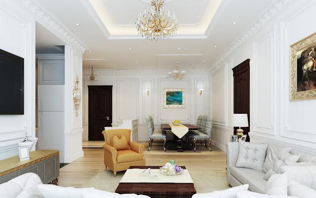 Thiết kế nội thất phòng khách The Emerald