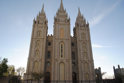 Salt Lake City Temple Square, Tulips, Families can be forever