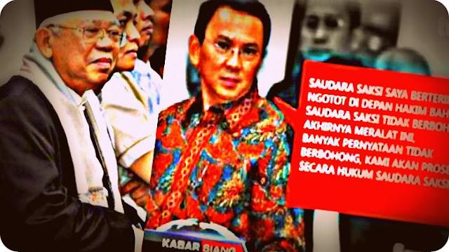 Nahdlatul Ulama Nilai Ahok Politisasi Ma'ruf Amin