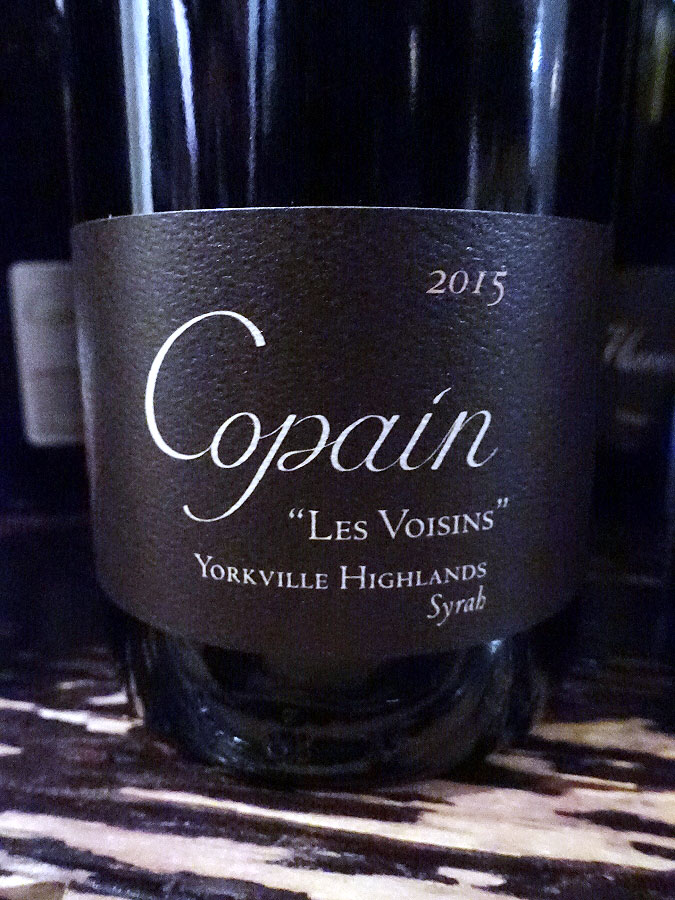 "Copain ""Les Voisin"" Syrah 2015 (90 pts)"