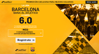 betfair supercuota 6 Barcelona gana Atletico Liga 21 septiembre