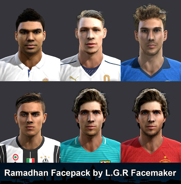 PES 2013 Ramadhan Facepack by L.G.R Facemaker