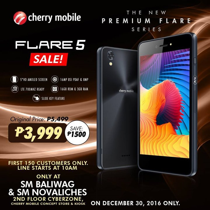 flare-5-sale-sm-nova-sm-baliwag Cherry Mobile Flare 5 PHP 3999 One Day Sale Is Back Only For Today! Apps