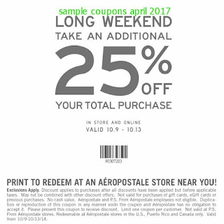 Aeropostale coupons april 2017