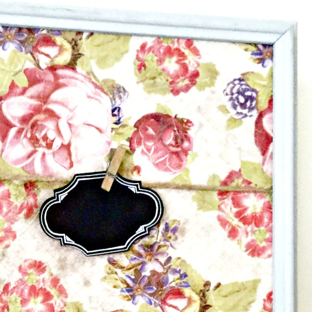 How to Make an Easy Memo Board Using Vintage Paper