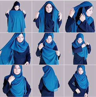 Tutorial Hijab Syari Modern