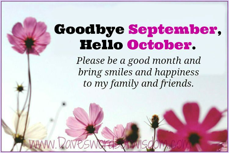 Delightful Goodbye To September   Hello October.