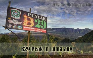 B29 Peak in Lumajang