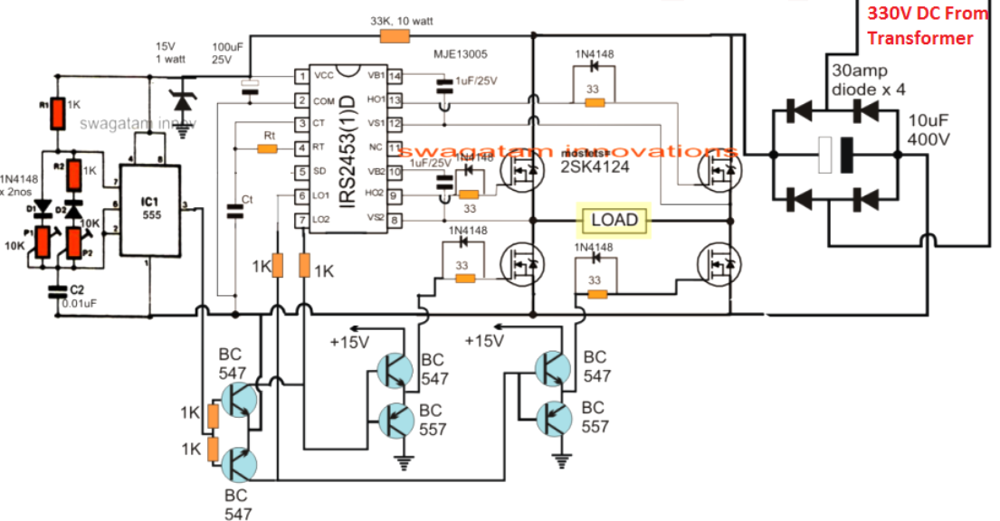 Simple IC 555 Inverter Circuit
