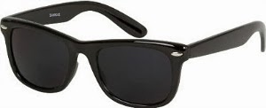 Super Dark Lens Wayfarer Sunglasses