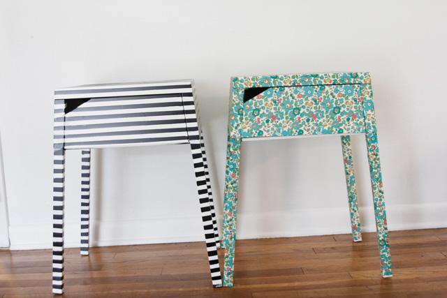 Style Nice Striped Nightstand Ikea