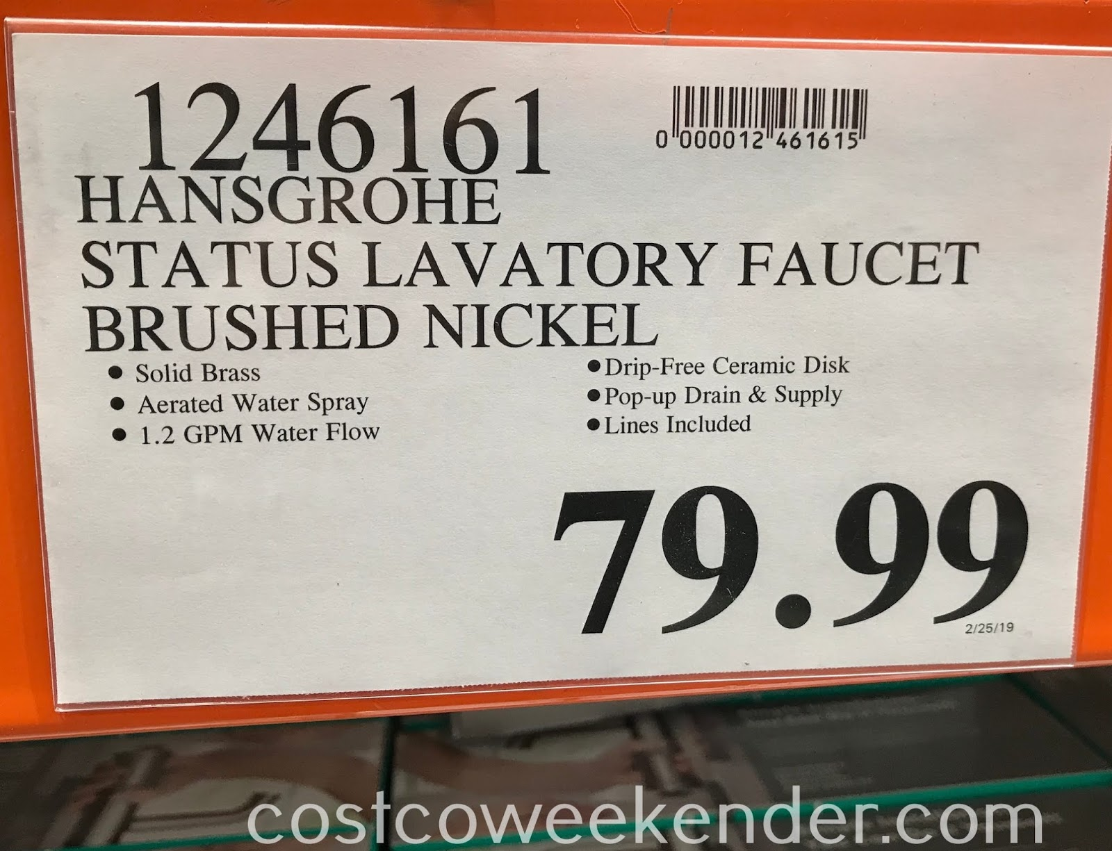 Deal for the Hansgrohe Status Lavatory Faucet at Costco
