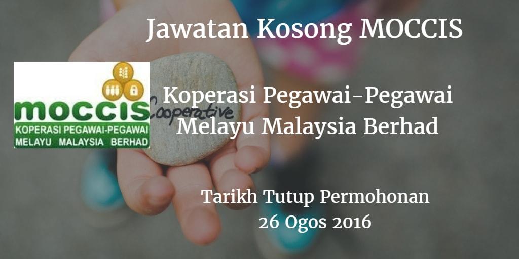 Jawatan Kosong MOCCIS 26 Ogos 2016
