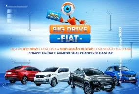 Cadastrar Promoção FIAT Big Drive Meio Milhão Visita BBB 19