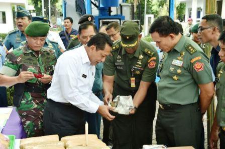 TNI Musnahkan Ribuan Jenis Narkoba