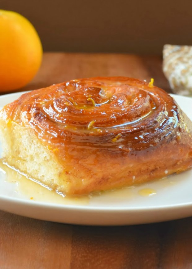 Orange Cinnamon Rolls with Citrus Glaze are a favorite recipe for breakfast or brunch. They are prepped the night before so they can be made fresh in the morning from Serena Bakes Simply From Scratch.
