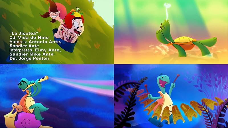 Eimy y Mike - ¨La Jicotea¨ - Videoclip - Dibujo Animado - Dirección: Jorge Pentón. Portal del Vídeo Clip Cubano