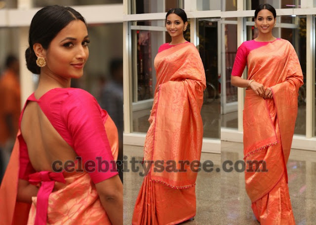 Srinidhi Shetty Silk Saree