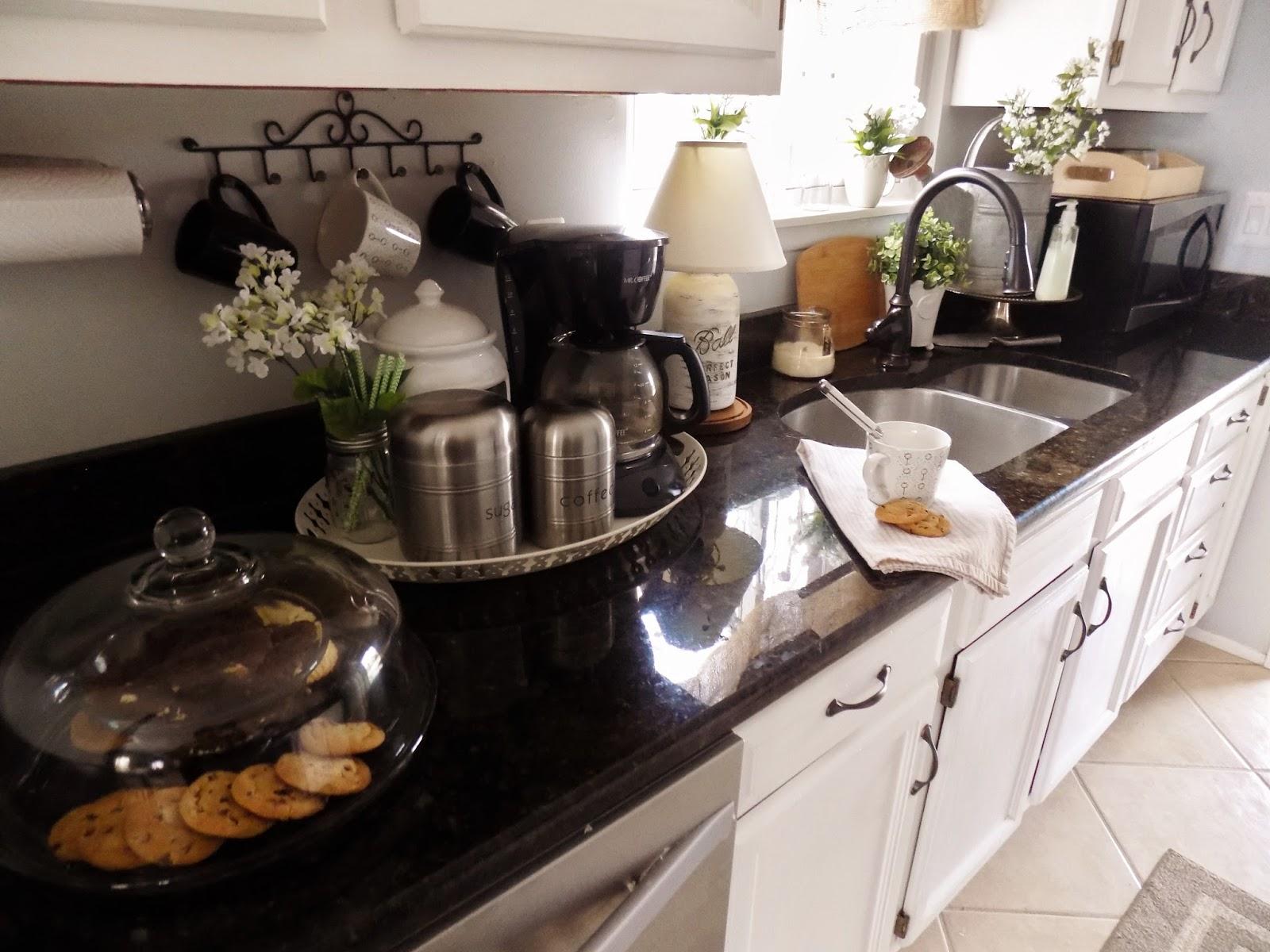 The Quaint Sanctuary: { Farmhouse & Kitchen Counter Decor ... on Kitchen Counter Decor  id=16768
