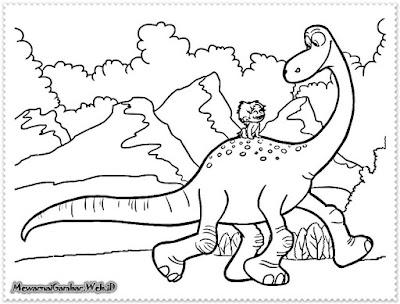 10 Mewarnai Gambar Dinosaurus