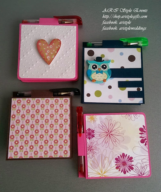 Gifts: Post-It Note Holders w/ mini-pens