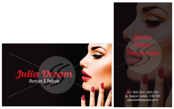 cartao de visita manicure criativos - Cartões de Visita para Manicure e Pedicure