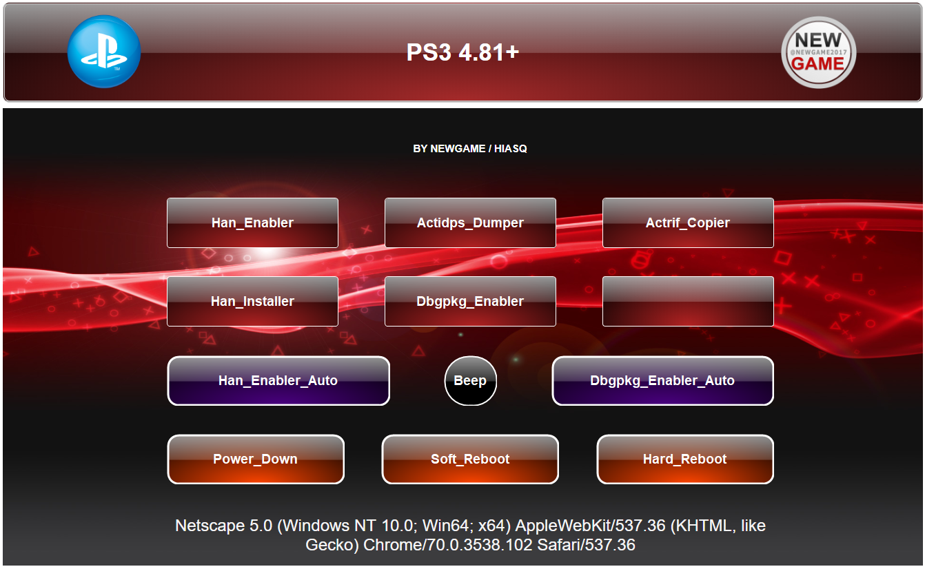 ESP8266 Firmware for PS3 HEN TOOLS 4 81+ - NEW GAME