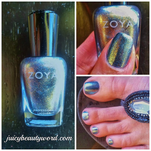 Zoya Hazel Nail Polish collage
