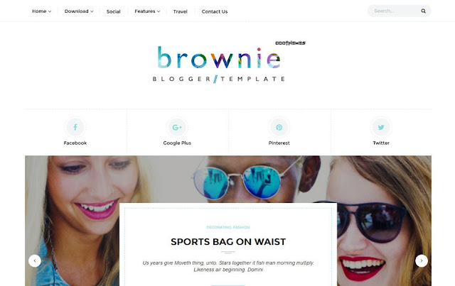 Brownie-Responsive-Blogger-Template