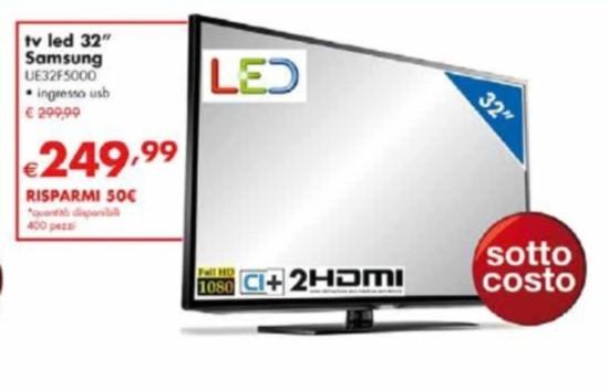 Sottocosto tv samsung ue32f5000 prezzo scontato da for Tv 75 pollici prezzo