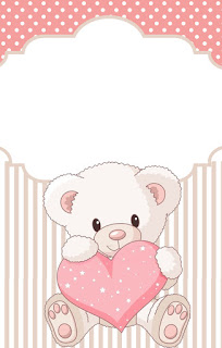 Teddy Bear for Girls Free Printable Labels.