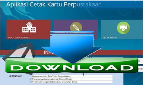 Aplikasi Cetak Kartu Anggota Perpustakaan Sekolah SD SMP SMA SMK Terbaru
