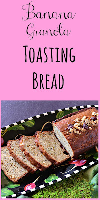 Banana Granola Toasting Bread is a great way to start your day or a perfect late day snack. I love it toasted with butter! #bananabread #quickbread www.thisishowicook.com