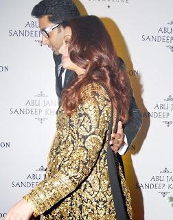 Pregnant Aishwarya Rai in Unique Designer Salwar Kameez At Abu Jani
