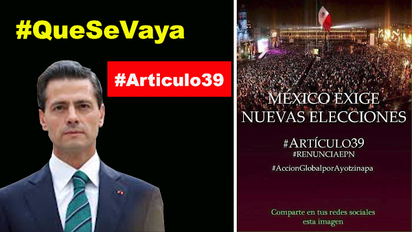 México exige nuevas elecciones ARTICULO 39 de la Constitución Mexicana