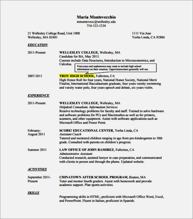 Usa Jobs Resume Template