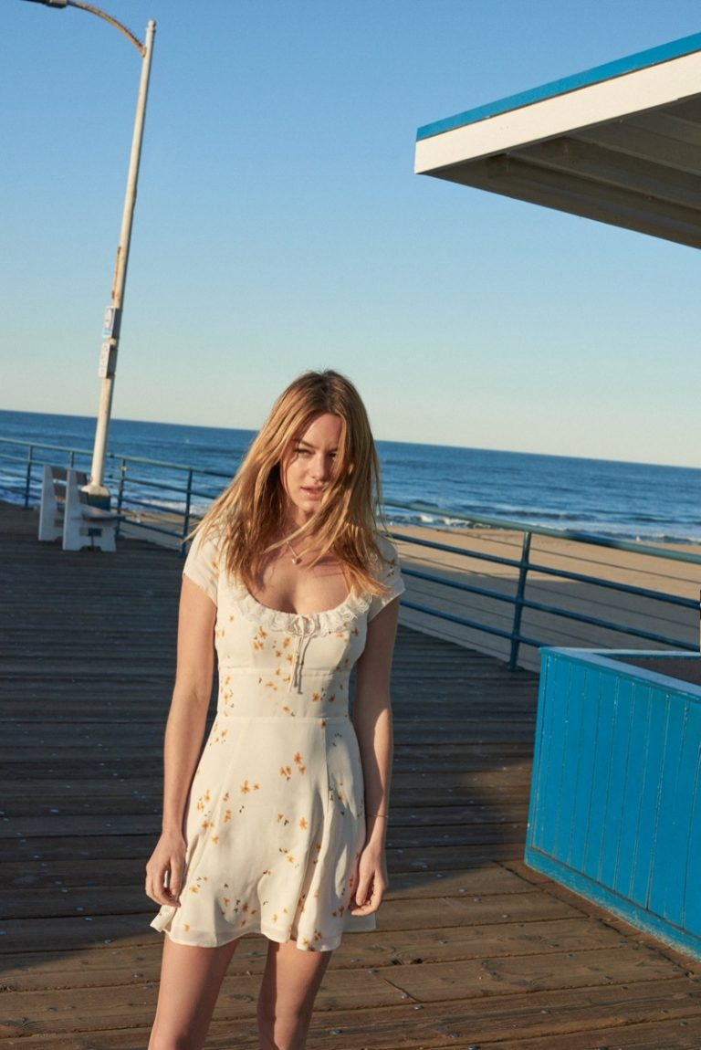 Camille Rowe Models Reformation's Lingerie Inspired Styles