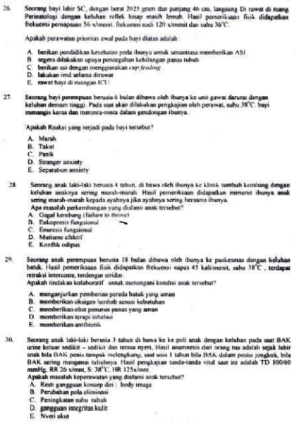 Contoh Soal Seleksi Cpns Atau Tenaga Non Pns Kompetensi Perawat Keperawatan Forum Guru Indonesia
